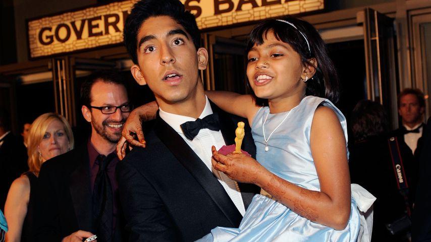 """Slumdog Millionaire""-Star Dev Patel und Rubina Ali bei den Oscars 2009"
