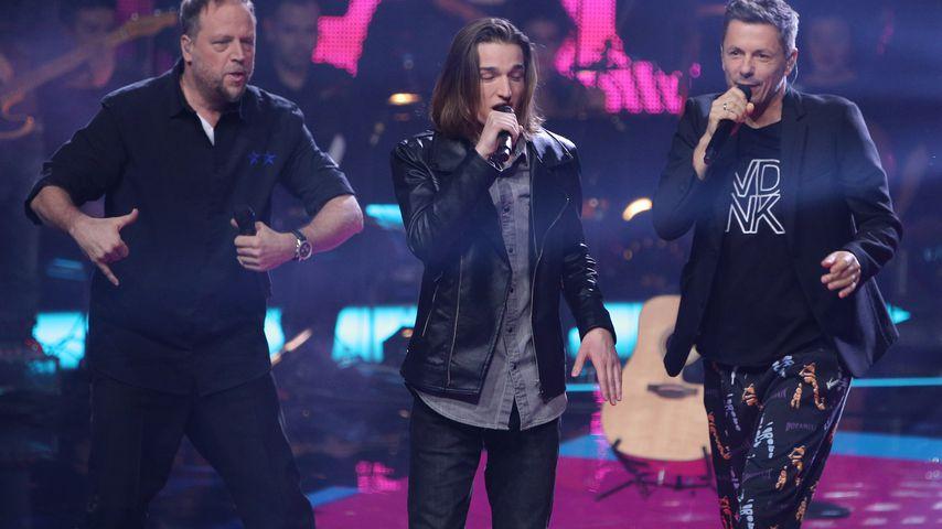 """Smudo, Eros Atomus Isler und Michi Beck beim """"The Voice of Germany""""-Finale 2018"""