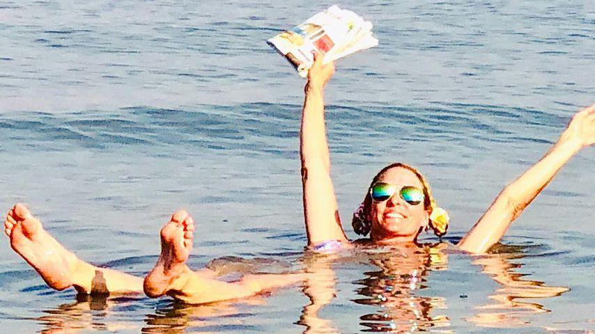 Moderatorin Sonya Kraus im Urlaub am Toten Meer, Juli 2018