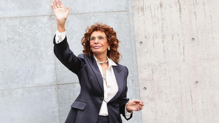 Sophia Loren während der Mailand Fashion Week 2015