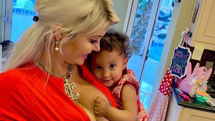 Sophia Vegas und ihre Tochter Amanda, April 2020