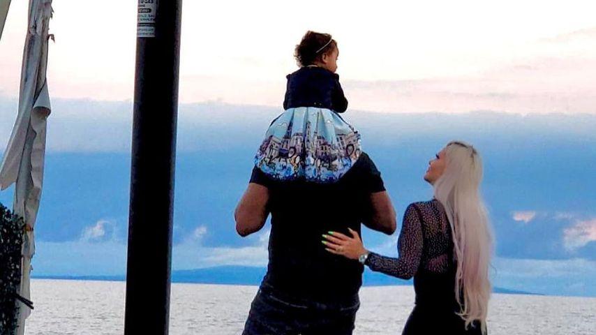 Sophia Vegas mit ihrem Mann Daniel Charlier und ihrer gemeinsamen Tochter Amanda