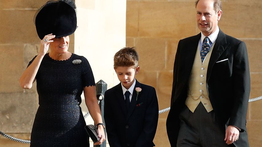 Sophie, Countess of Wessex, ihr Sohn James, Viscount Severn und Prinz Edward