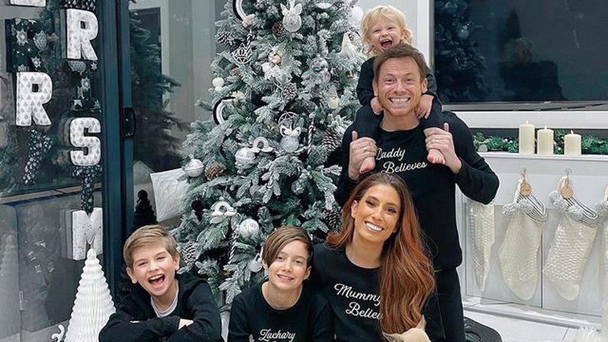 Stacey Solomon mit ihren drei Kindern und ihrem Mann Joe