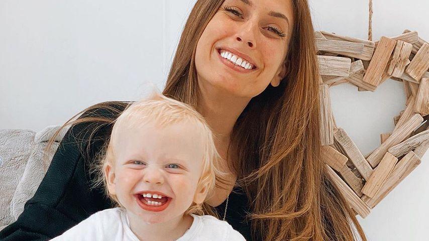 Stacey Solomon mit ihrem Sohn Rex
