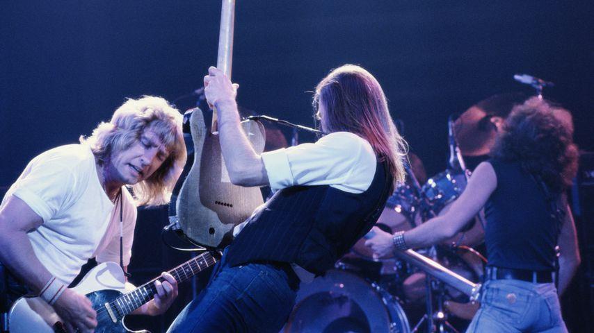 Status Quo bei einem Konzert im Jahr 1984