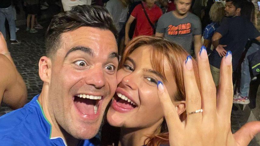 Stefano Zarrella und Romina Palm im Juli 2021 in Rom