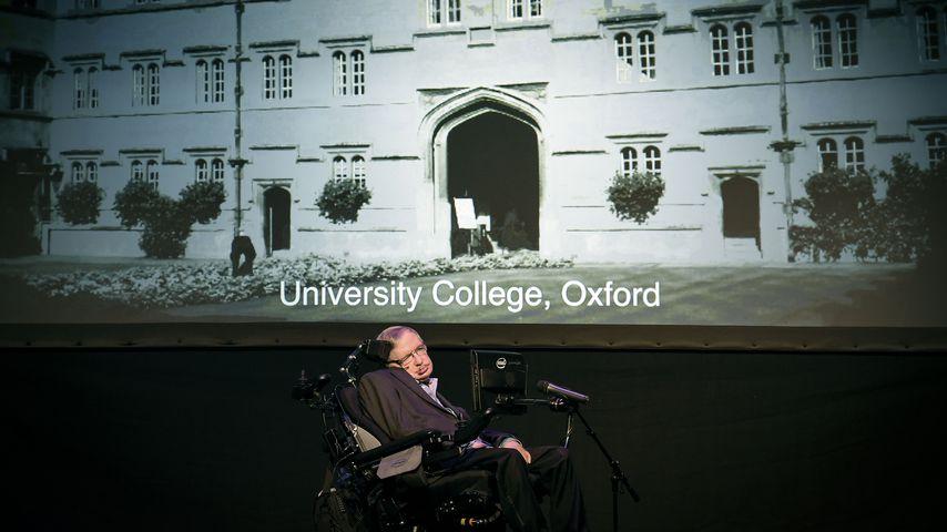 Stephen Hawking bei einem Vortrag auf Teneriffa