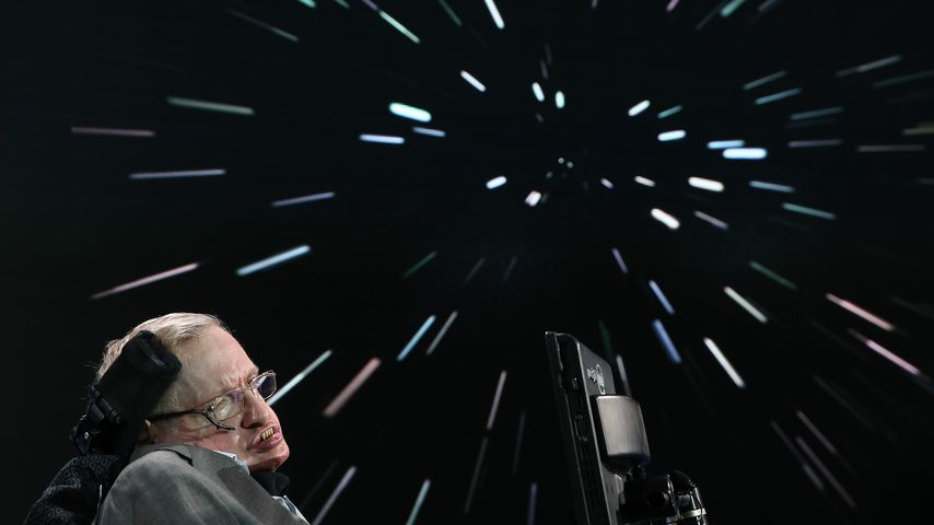 "Stephen Hawking bei der Initiative ""Breakthrough Starshot"""