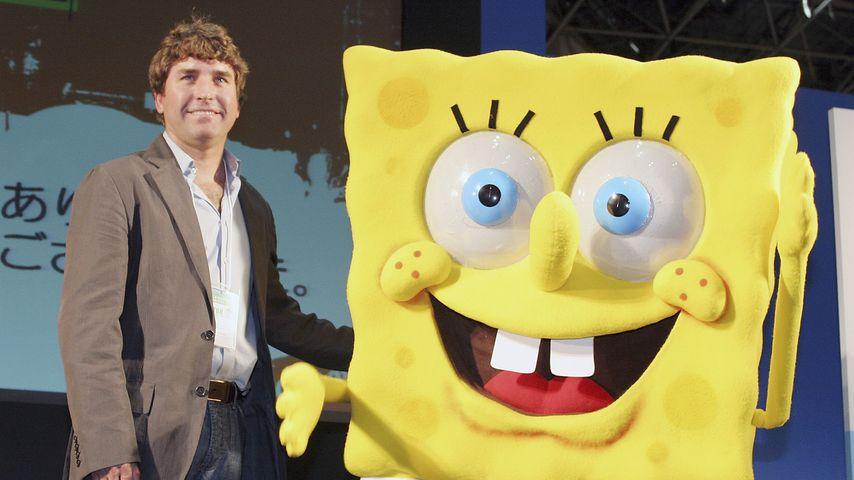 Stephen Hillenburg mit SpongeBob Schwammkopf