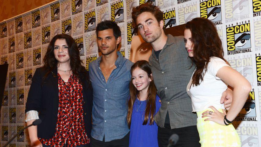 Stephenie Meyer, Taylor Lautner, Mackenzie Foy, Robert Pattinson und Kristen Stewart