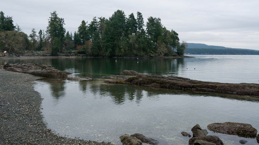 Strand bei North Saanich in Kanada