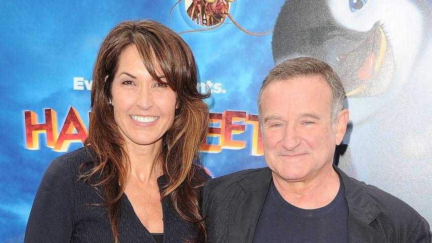 Susan Schneider und Robin Williams