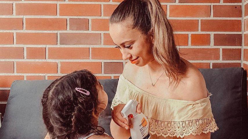 Svenja Theißen mit ihrer Tochter Zoé