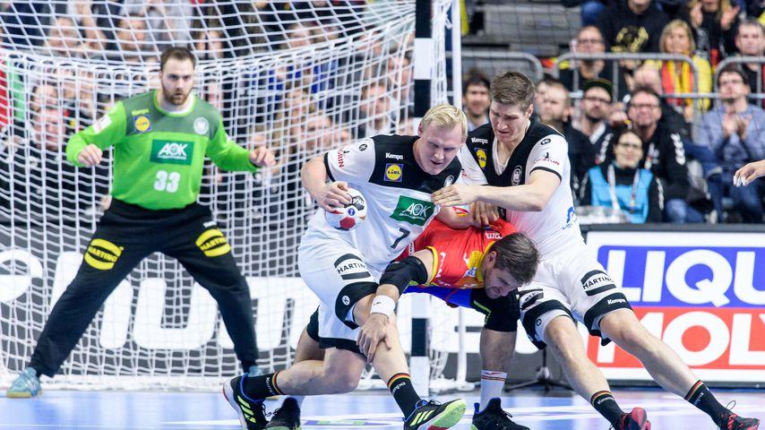 Szene bei der Handball-WM 2019 im Spiel Deutschland gegen Spanien