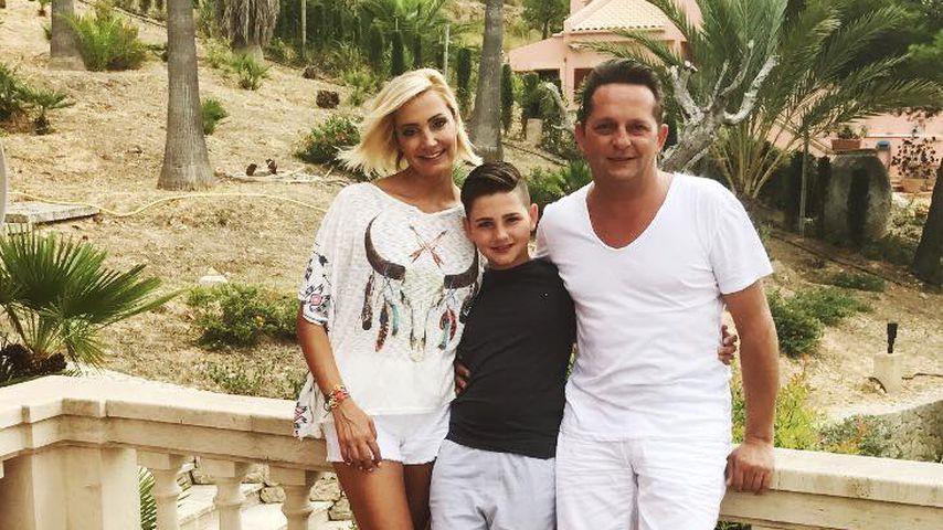 Tanja Lasch und Martin Hein mit ihrem Sohn Luca 2017 auf Mallorca