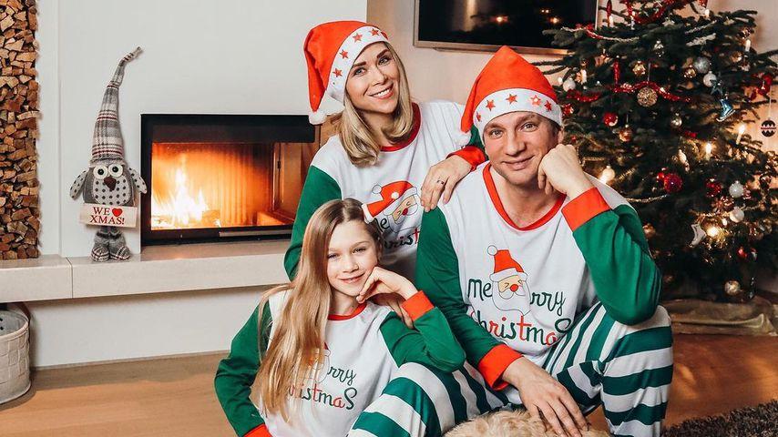Tanja Szewczenko mit ihrer Familie, Weihnachten 2020