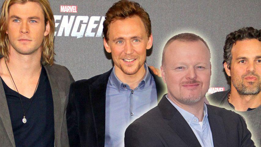 """Avengers""-Darsteller bringen Raab ins Schwitzen"