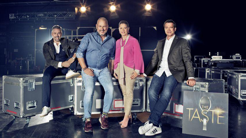 """The Taste""-Jury Roland Trettl, Frank Rosin, Cornelia Poletto und Alexander Herrmann"