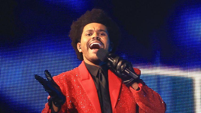 Sänger The Weeknd beim Super Bowl