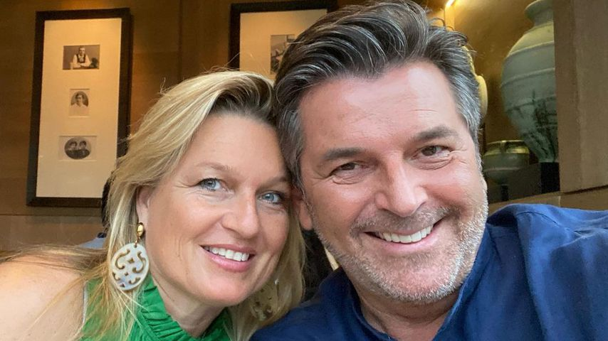 Thomas Anders und seine Frau Claudia im Juli 2021 in Bayern