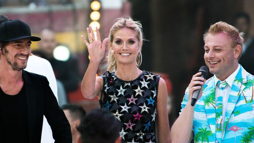 "Thomas Hayo und Heidi Klum im Mai 2016 bei ""Germany's next Topmodel"""
