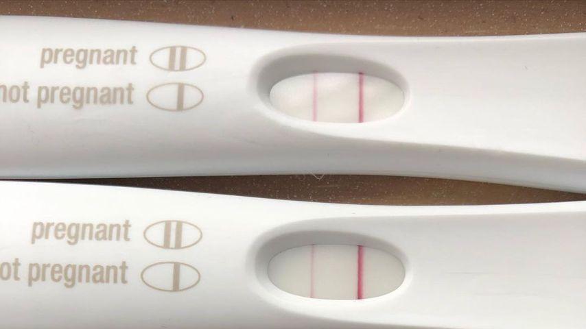 Tiffany Thorntons positive Schwangerschaftstests