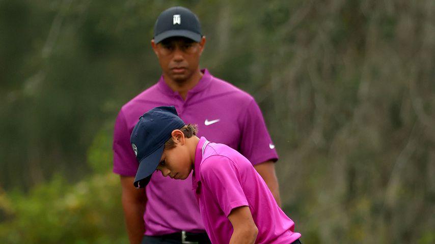 Tiger Woods' Sohn Charlie mit seinem Vater