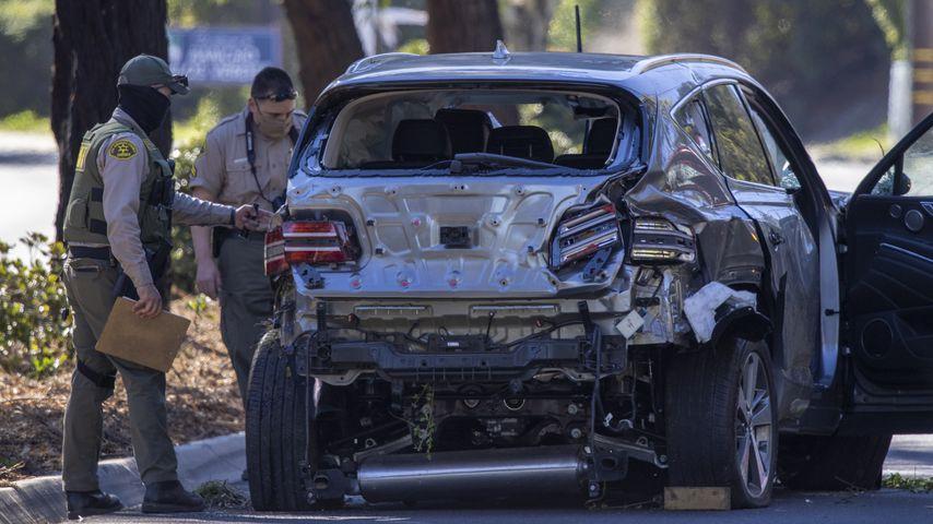 Tiger Woods stark beschädigtes Auto