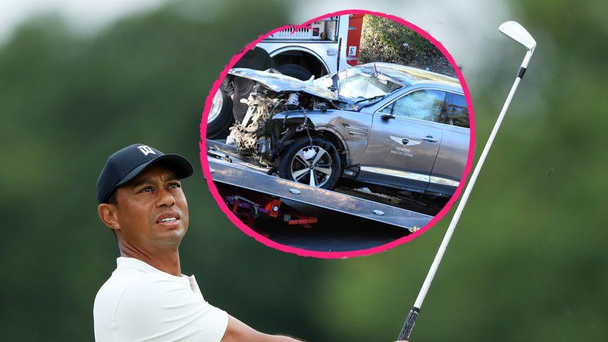 Nach Unfall: So heftig ist Tiger Woods' Wagen demoliert!