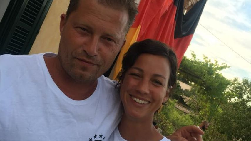 Til Schweiger und Marlene bei der Fußball-Europameisterschaft 2016