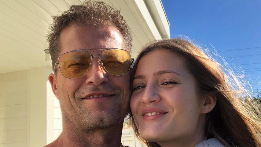 Til Schweiger und Tochter Lilli in Malibu 2018