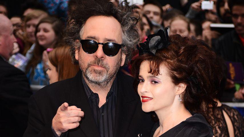 Tim Burton und Helena Bonham Carter, 2012 in London