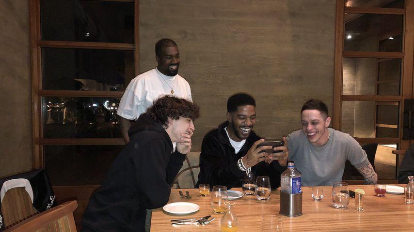 Timothee Chalamet, Kanye West, Kid Cudi und Pete Davidson
