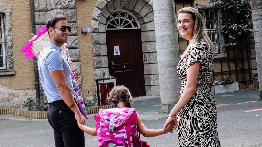 Timur Ülker mit seiner Tochter und seiner Partnerin Caroline, August 2020