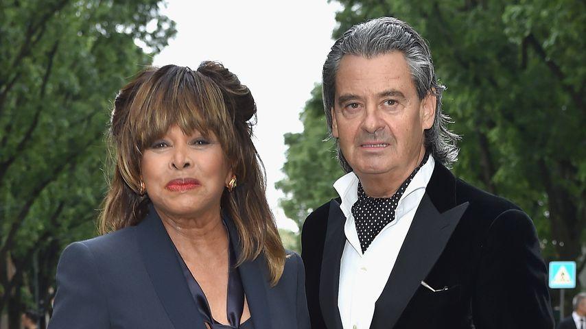 Tina Turner und Erwin Bach in Mailand, 2015