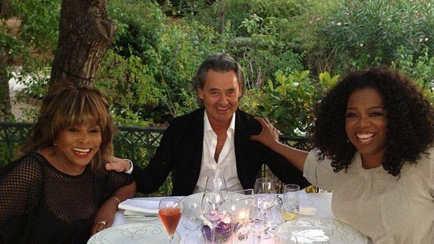 Oprah Winfrey, Tina Turner und Erwin Bach