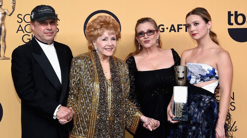 Todd Fisher, Debbie Reynolds, Carrie Fisher und Billie Lourd