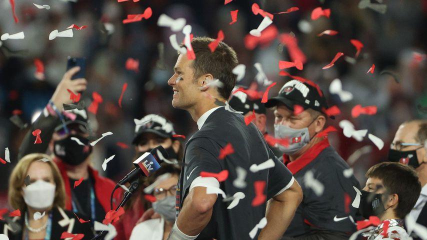 Footballer Tom Brady beim Super Bowl 2021
