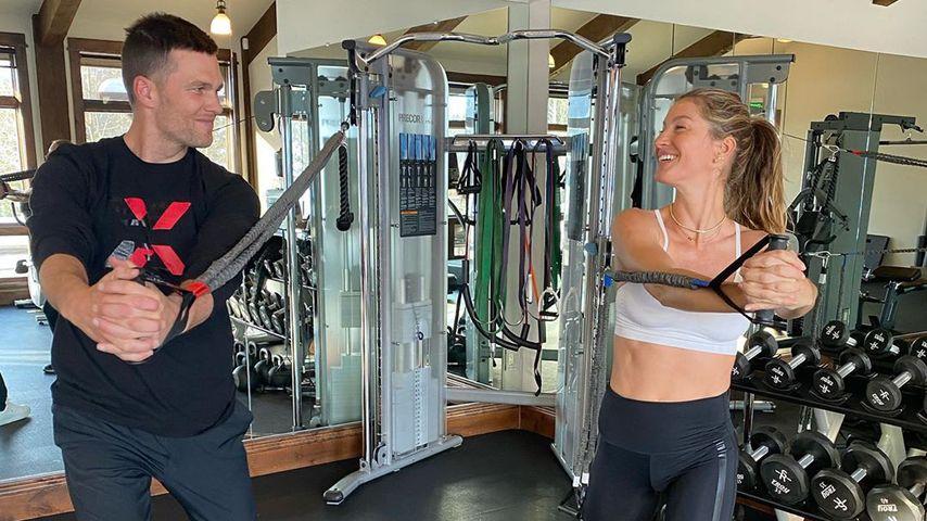 Tom Brady und Gisele Bündchen im Gym