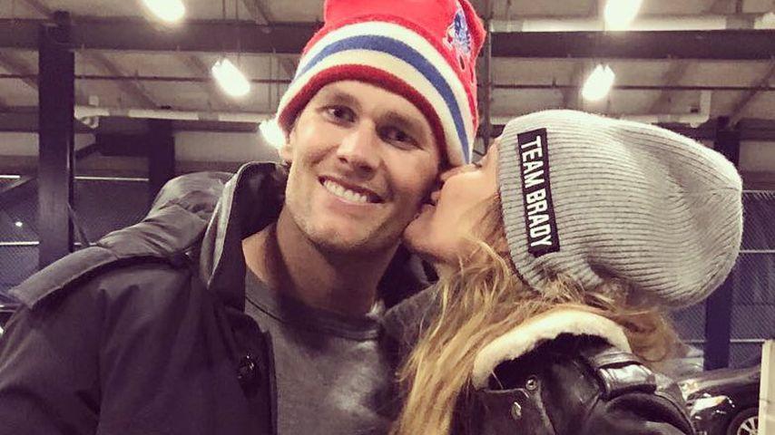 Super-Bowl-Küsse: Gisele gratuliert ihrem Tom zum Einzug!