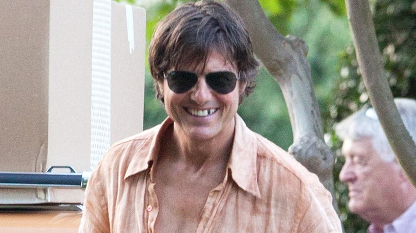 Tom Cruise am Set eines Films