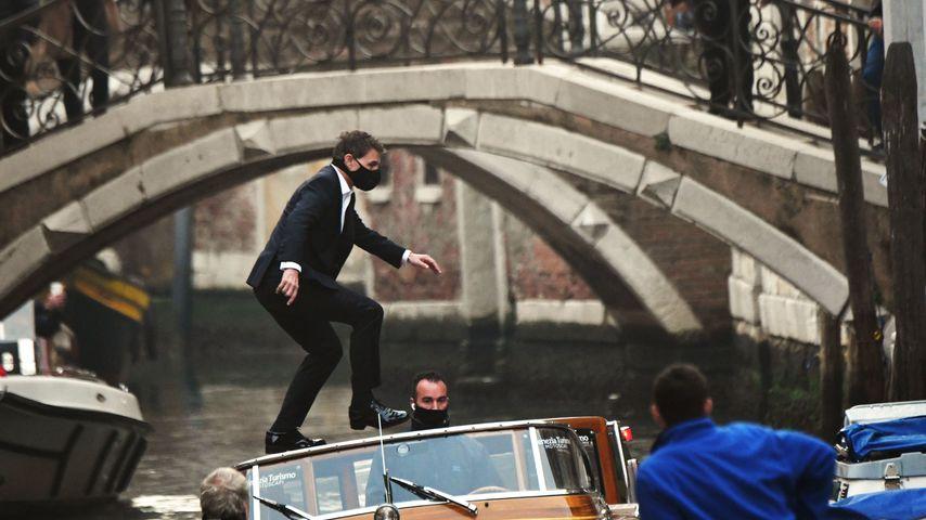 """Tom Cruise, Oktober 2020 bei den Dreharbeiten zu """"Mission: Impossible sieben"""" in Venedig"""