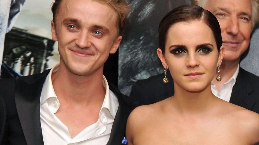 """Tom Felton und Emma Watson auf der """"Harry Potter und die Heiligtümer des Todes""""-Premiere in New York"""