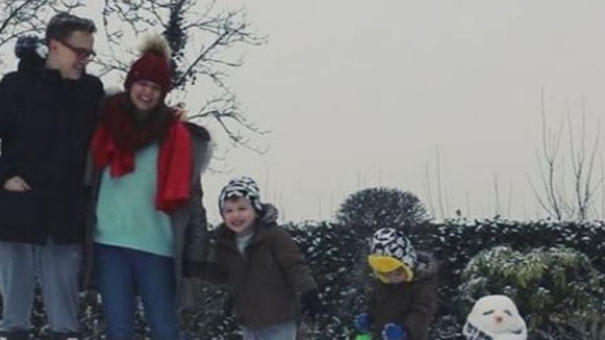 Tom Fletcher und seine Frau Giovanna mit ihren beiden Kindern Buzz und Buddy