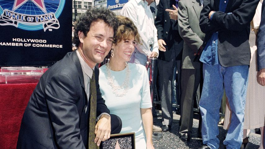 Tom Hanks an seinem Stern am Walk of Fame im Jahr 1992