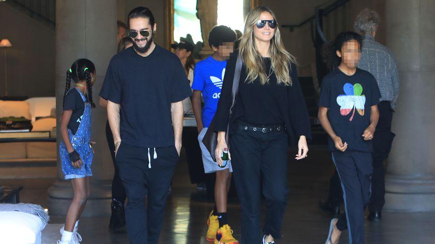 Tom Kaulitz und Heidi Klum beim Shopping mit ihren Kids