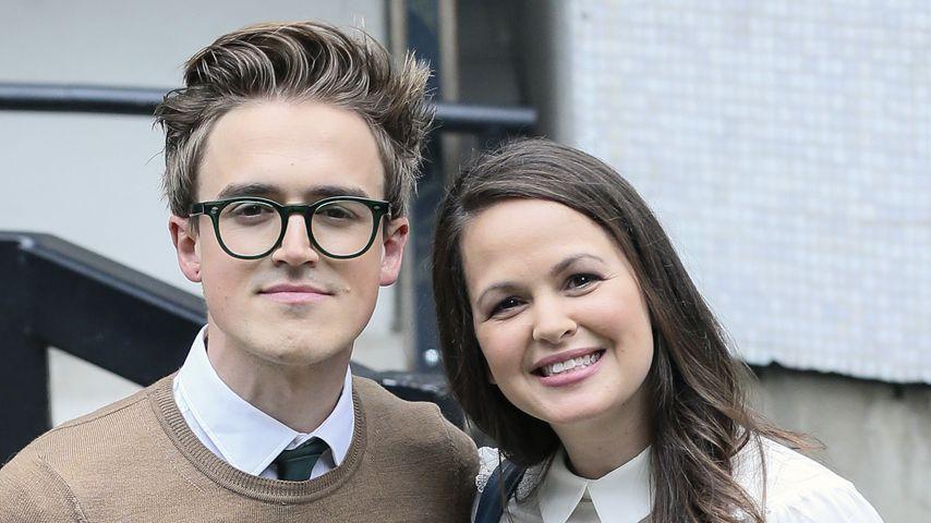 Tom und Giovanna Fletcher vor den ITV Studios