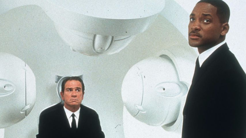 "Tommy Lee Jones und Will Smith in ""Men in Black II"""