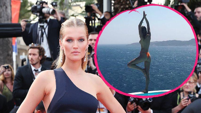 Heiße Urlaubs-Grüße: Model Toni Garrn macht Oben-Ohne-Yoga!